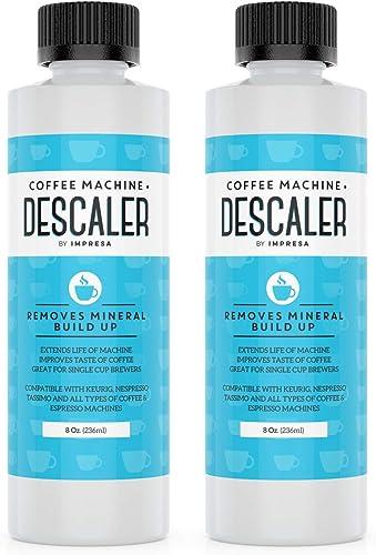 Descaler (2 Pack, 2 Uses Per Bottle) - Made in the USA - Universal Descaling Solution for Keurig, Nespresso, Delonghi...