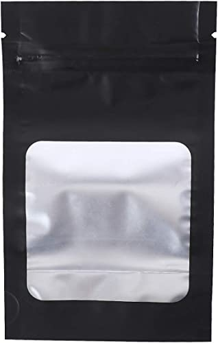 high quality Mylar Bags - Stand Up Resealable and Smell Proof Pouches With Window sale (100 Pieces - 3.5 inch x wholesale 5.9 inch) outlet online sale