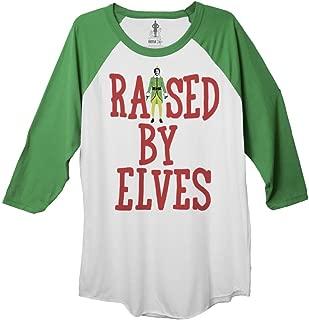 Elf Raised by Elves Adult Baseball Raglan 3/4 Sleeve