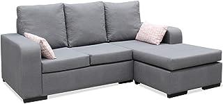 Muebles Baratos Sofa ChaiseLongue, Montado, Color Gris, 3