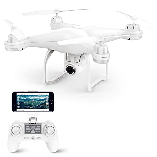 Potensic GPS Drone, T25 GPS 1080P HD WiFi Camcorder FPV RC Drone 2.4Ghz Remote Control Quadcopter with Wide-Angle Function-Adjustable Camera Follow Me Suspension Altitude Hold