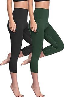 Cadmus kvinnors hög midja magkontroll träning leggings med fickor