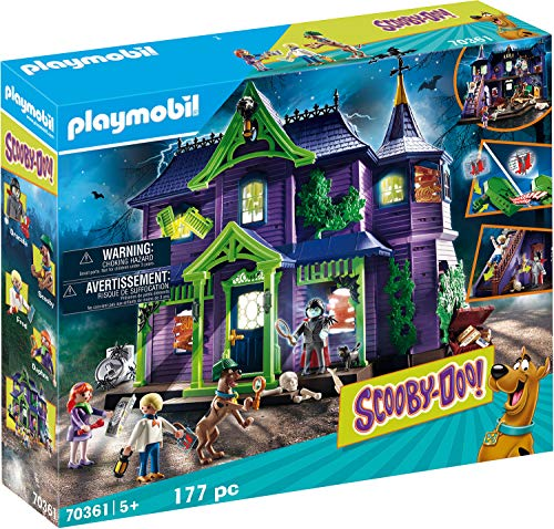 PLAYMOBIL SCOOBY-DOO! 70361 Abenteuer im Geisterhaus, Mit Licht- und Soundeffekten, Ab 5 Jahren