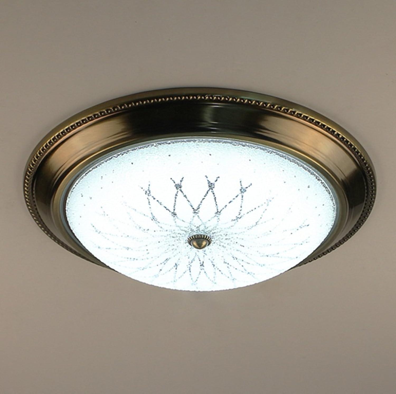 Jane European Village Pastorale LED Fer Lampes de plafond Balcon Porche Restaurant Simple Chambre à coucher Lumière chaude (couleur   Lumière blanche-Les petites)