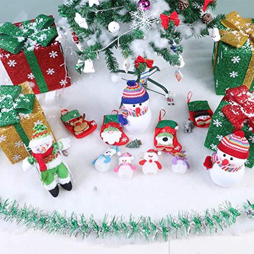 Algodón artificial falso de nieve instantáneo de Navidad, ideal para hacer copos de nieve artificiales Decoración navideña - Mezcla hace 200 g/bolsa