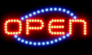 SPRINGROSE Large Neon LED Open Sign with Animation Motion and Constant On Functions | Perfect for Shops, Salons, Bars, Pubs, Cafes, Gas Stations, Motels, and Offices!!!