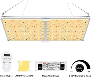 MIXJOY GL-2000 LED Grow Light with Samsung LM301B & Dimmable Mean Well Driver, 220W Sunlike Full Spectrum LED Panel Grow Lights for Hydroponic Indoor Plants Veg and Flower Growing Lamp with Timer