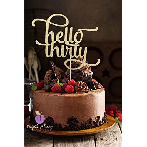 Hello Thirty Cake Topper