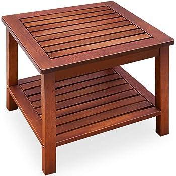 Deuba Beistelltisch Gartentisch Akazienholz Massiv 45x45x45cm Balkontisch Couchtisch Holztisch Blumenhocker Holz Tisch Garten Amazon De Kuche Haushalt