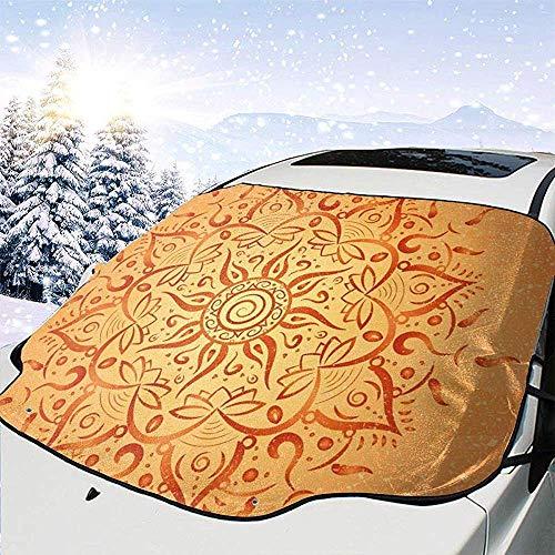 Night-Shop Stammes-ethnischen Sun-Muster mit Ombre-Effekt-Mandala-Figuren Icons Kultur Thema Print Auto Windschutzscheibe Cover