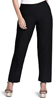 Eileen Fisher Plus Size Stretch Crepe Straight Pants Black 3X