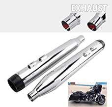 Classic Chrome Megaphone Slip-On Mufflers Exhaust Pipe For 2017-2019 Harley Touring, Road King,Electra Glide, Street Glide, Road Glide, Ultra Classic