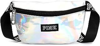 Running Belt - Transparent Laser Mini Women Pink Reflective Fanny Pack heuptas Waist Bag Hologram Beach Pockets Pouch Belt