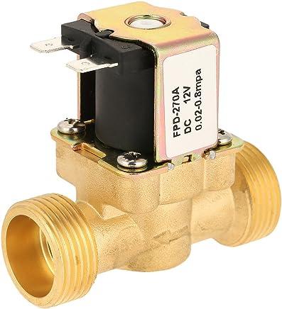 Elettrovalvola elettrica in ottone G3/4 per acqua 12V DC normalmente chiusa