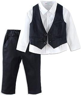 SPRMAG スーツ セットアップ 男の子 キッズ ベスト シャツ ズボン 3点 フォーマル 結婚式 春秋 90-130