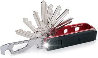 Keyport Pivot Essential Bundle - Keychain Multitool - Modular EDC Keychain Multi-Tool - Includes: MOCA 10 in 1 Pocket Tool w/Bottle Opener Keychain + Mini Keychain Flashlight + Key Organizer (Red)