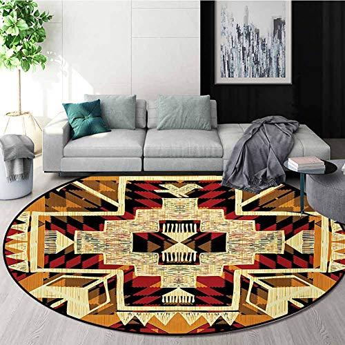 Purchase RUGSMAT Arrow Modern Washable Round Bath Mat,Native American Inspired Retro Aztec Pattern M...