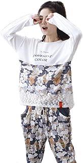 Pajama Men's Fall Long Sleeve Round Neck Printed Pajamas Classic Set Fashion Casual Comfortable Breathable Loose Homewear ...