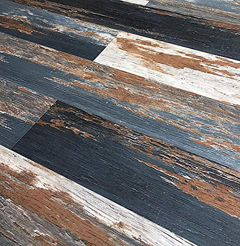 Colors Vintage Painted Aged Old Black Smoke Wood Restored Style Dry Back Glue Down Textured Luxury Vinyl Floor and Wall Plank 6 in. x 36 in. (30 sq. ft. / case)