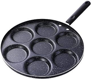 Sartén Sartén de siete agujeros Sartén de tortilla espesa Huevo antiadherente Panqueque Sartén para cocinar Huevo Jamón Sartenes Desayuno