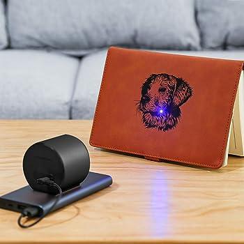 Grabador Láser Compacto, Mini Desktop Grabado Láser Impresora Láser portátil de corte Láser Grabadora con gafas de seguridad para el diseño de logotipos de bricolaje, Art Craft Science Negro: Amazon.es: Bricolaje y