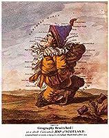 MAP 1794 DIGHTON SCOTLANDの見本抽出レプリカポスター印刷PAM0239
