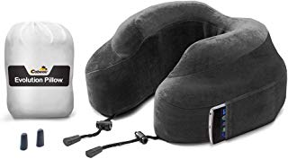 Cabeau Evolution Memory Foam Travel Pillow - The Best Neck Pillow with 360 Head & Neck Support - Grey