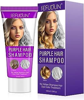 Purple Shampoo Champú Purpura Champú No Yellow Antiamarillo No Yellow Champu Cabello Decolorado y Resaltado Revitaliz...