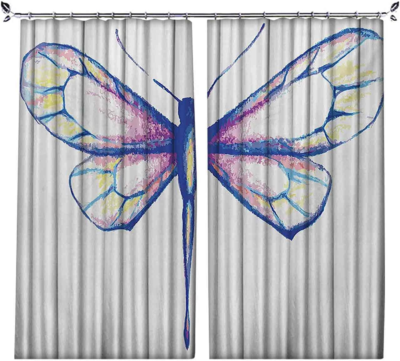 Room Special price Darkening Dragonfly Popular shop is the lowest price challenge Curtain S in Single Featured