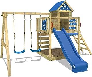 WICKEY Parque infantil de madera Smart Cave con columpio y