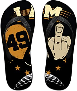 AA+ME I Am 49 Plus Middle Finger Comfortable Men Women Summer Beach Sandals Shower Flip-Flops Slippers