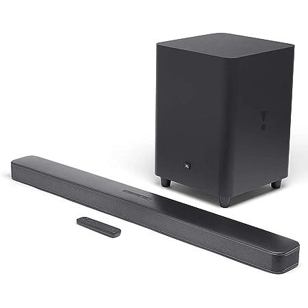 JBL Bar 5.1 Surround - Barra de sonido 5.1 con subwoofer, 5.1 canales, 550W, inalámbrico, negro