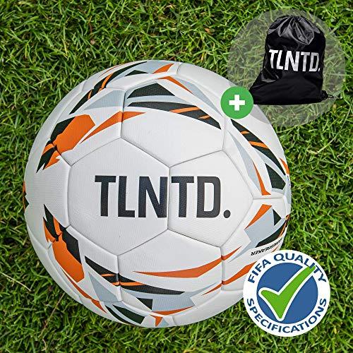 TLNTD. Gamebreaker Fußball Größe 5, Fussball Kinder & Erwachsene, Match und Training Football Ball, Verschleißfest, Wetterbeständig, Inklusive Tasche