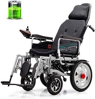 Sillas de ruedas eléctricas para adultos Silla de ruedas eléctrica ajustable, cómodo ligeros plegables silla de ruedas, automático inteligente de mentira de cuatro ruedas de moto for ancianos discapac