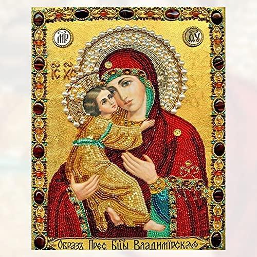 Diamante pintura 5d Diy diamante pintura punto de cruz religión icono de líder mosaico de diamantes verdaderos hombres religiosos diamante 30 * 40