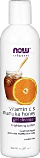 NOW Solutions, Vitamin C and Manuka Honey Gel Cleanser, Brightening System, Promotes Healthy-Looking Skin, 8-Ounce