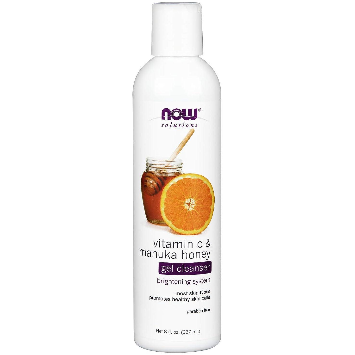 分注するテレビを見る速いNOW Vitamin C & Manuka Honey Gel Cleanser - 8 fl. oz. ビタミンC&マヌカハニー配合のジェルタイプ洗顔 ~海外直送品~