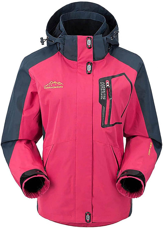 Womens Plush Waterproof Lightweight Rain Jacket Active Outdoor Hooded Windbreaker Pocket Quick Drying Coat Plus Size