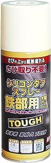 ニッペ 高耐久シリコン樹脂塗料 油性シリコンタフスプレー アイボリー 300mL