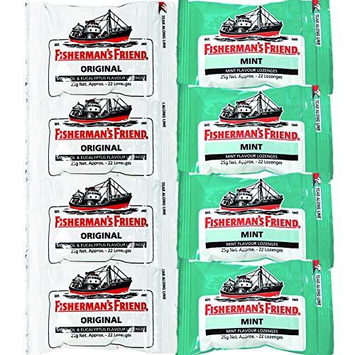 フィッシャーマンズ フレンド ストロング ミント (緑)(白) 8個入り 各4個入り