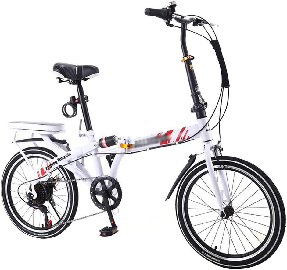 Superlatite ZDXC 20 Inch Folding Bicycle Women Single Max 69% OFF Light Adult Work Ultra