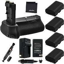 Battery Grip Bundle F/Canon EOS 6D: Includes BG-E13 Replacement Grip, 4-Pk LP-E6 / LP-E6N Long-Life Batteries, Charger, UltraPro Accessory Bundle