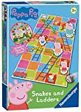 Ravensburger 21373 Peppa Pig Snakes & Ladders Board Kids Age 3 Years and Up-A Classic Game and Family Favourite