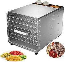 Máquina de conservación de alimentos para el hogar Deshidratador de alimentos, Secador eléctrico de temperatura ajustable de 33 a 80 ° C para frutas frescas y deshidratadas Verduras 6 Bandejas 30 hora