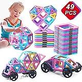 49PCS Castle Magnetic Blocks - Learning & Development Magnetic Tiles Building Blocks Kids Toys for 3 4 5 6 7 Years Old Boys Girls Gifts