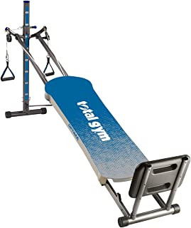 Total Gym Optima Full Body Workout Home Gym Fitness Folding Exercise Machine, Blue
