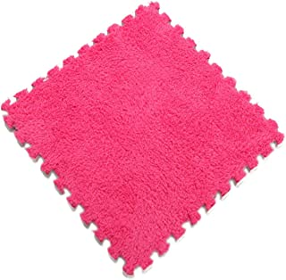 SEE YOU! 3030Cm Foam Puzzle Mat Eva Foam Plush Suede Shaggy Carpet Velvet Play Mat Interlocking Exercise Floor Tiles