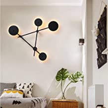 LJL Decorative Wall Light LED Black Wall Lamp Aisle Besides Bedroom Dining Living Room Study Balcony Acrylic Warm Yellow L...