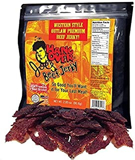 Western Style Outlaw Flavored Tender Beef Jerky - Made with Premium USA Beef Brisket, 2.85oz bag