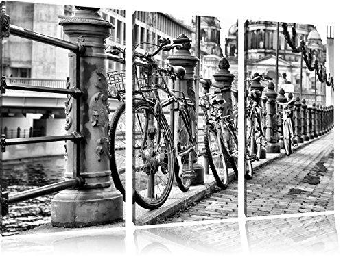 Bike Station, BMX-parcours spoorFoto Canvas 3 deel | Maat: 120x80 cm | Wanddecoraties | Kunstdruk | Volledig gemonteerd